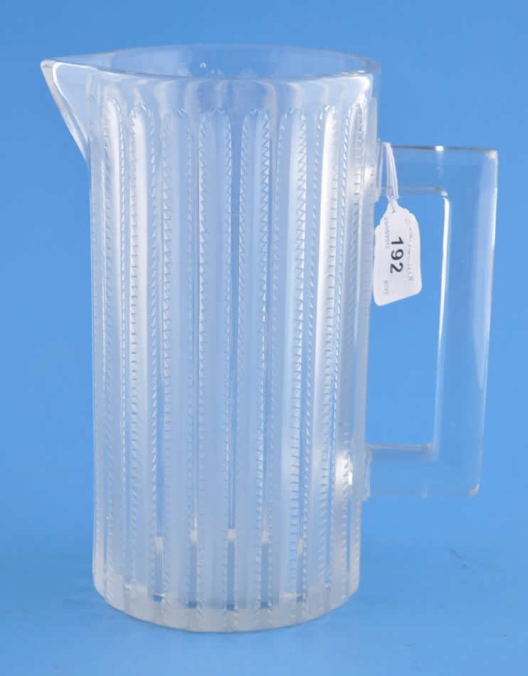 R. Lalique Jaffa Pitcher