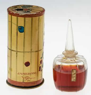 Rene Lalique Jamerose Perfume Bottle