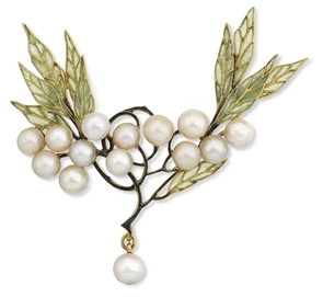 Rene Lalique Leaves And Berries Brooch