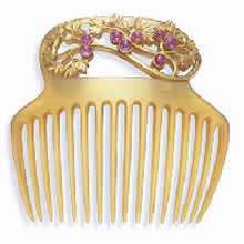 Rene Lalique Leaves And Berries Comb