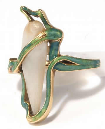 R. Lalique Long Teardrop Ring