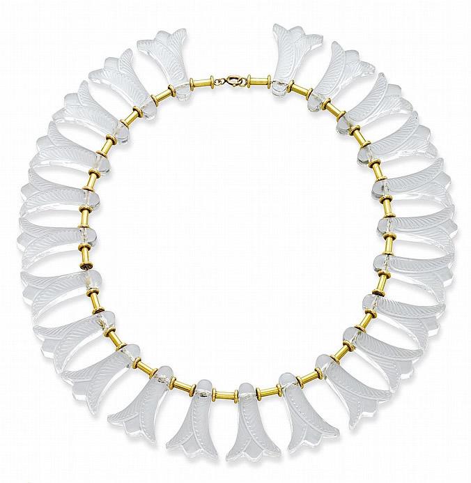 Rene Lalique Fuchsias Necklace