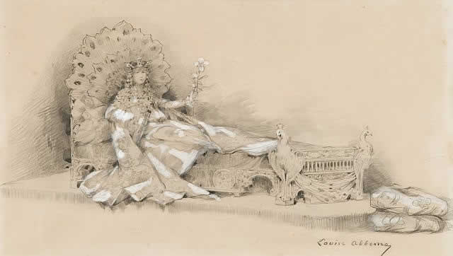 Rene Lalique Sarah Bernhardt - La Princesse Lointaine Drawing