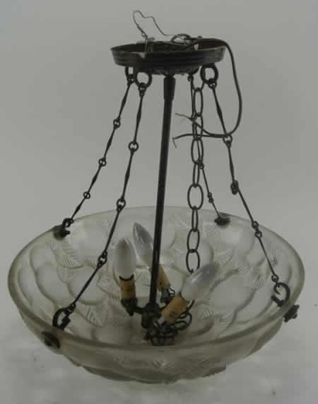 R. Lalique Lausanne Light Fixture
