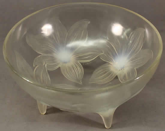 Rene Lalique Footed Bowl Lys