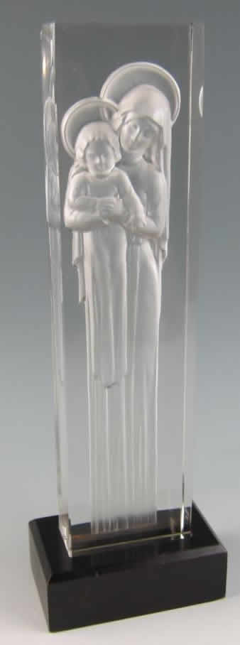 Rene Lalique Madonna and Child Statue
