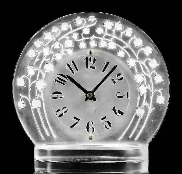 Rene Lalique Marly Clock