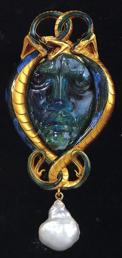Rene Lalique Pendant Medusa And Serpent