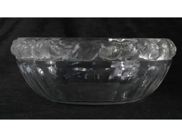 Rene Lalique Mesanges Bowl