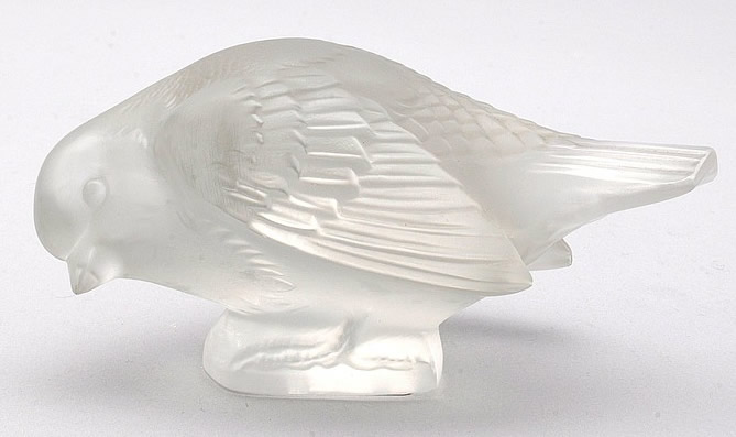 Rene Lalique Moineau Sournois Paperweight