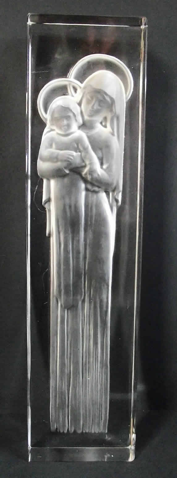 Rene Lalique Mother And Child Statue