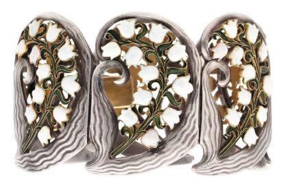 Rene Lalique Le Muguet En Argent Bracelet