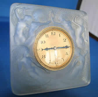 R. Lalique Naiades Table Clock