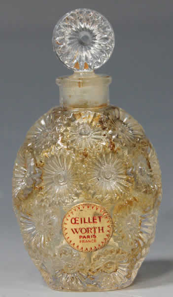 Rene Lalique Perfume Bottle Oeillet