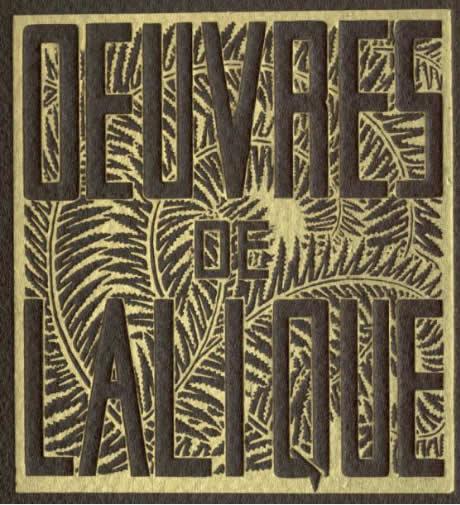 Rene Lalique Catalogue Oeuvres De Lalique 1932