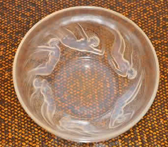 Rene Lalique Ondines Opalescent Bowl