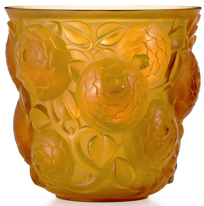 Rene Lalique Vase Oran