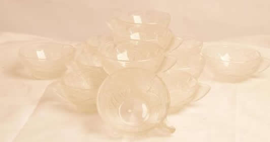 Rene Lalique Ice Cream Cup Ormeaux