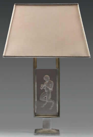 Rene Lalique Pan Lamp