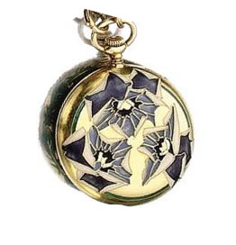 Rene Lalique Pansy Pocket Watch