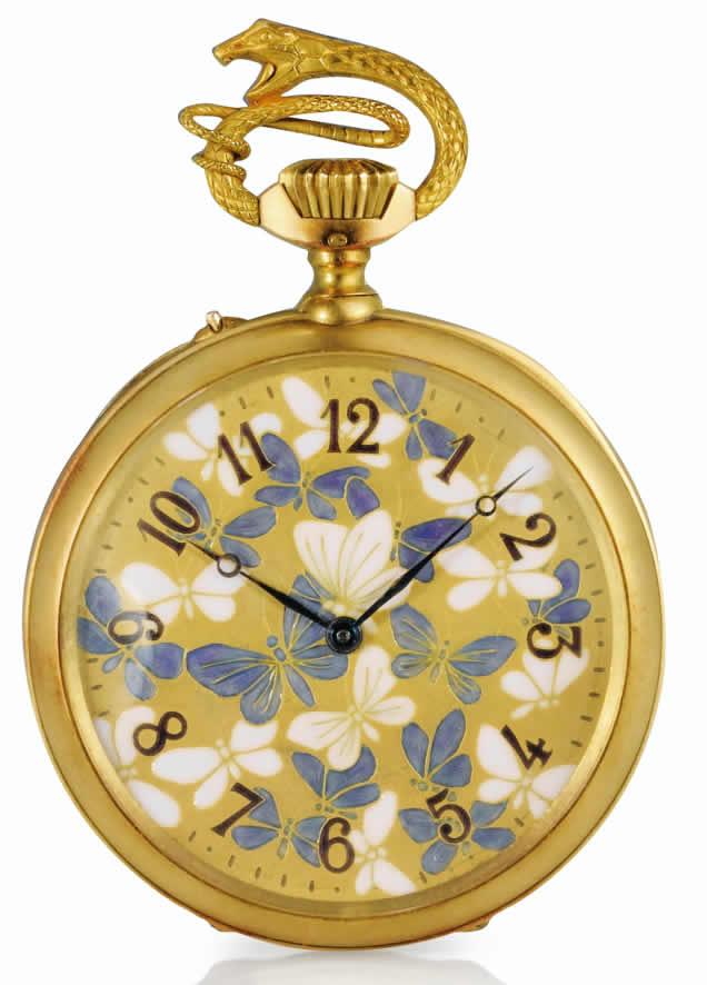 Rene Lalique Papillons Et Chauves-Souris Pocket Watch