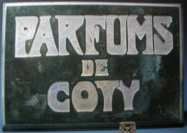 Rene Lalique Parfums De Coty Sign