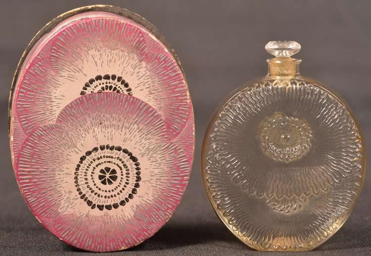 Rene Lalique Flacon Pavots D'Argent