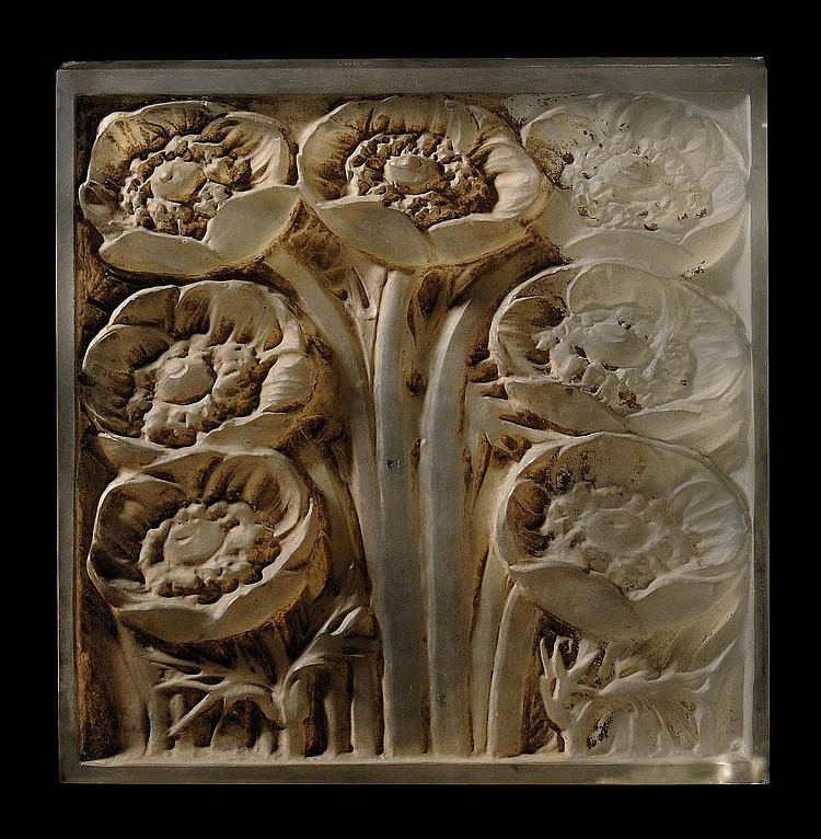 Rene Lalique Pavots Panel