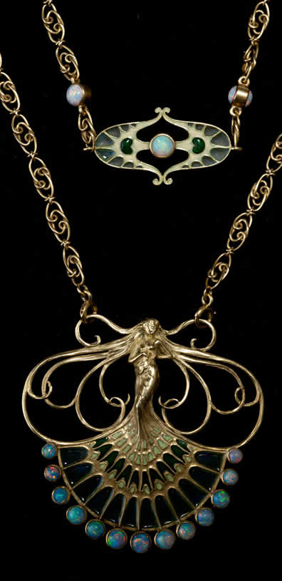 Rene Lalique Peacock Woman Necklace