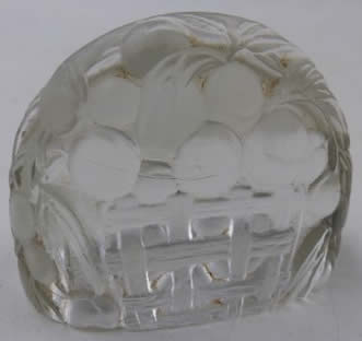 Rene Lalique Peches Menu Card Holder