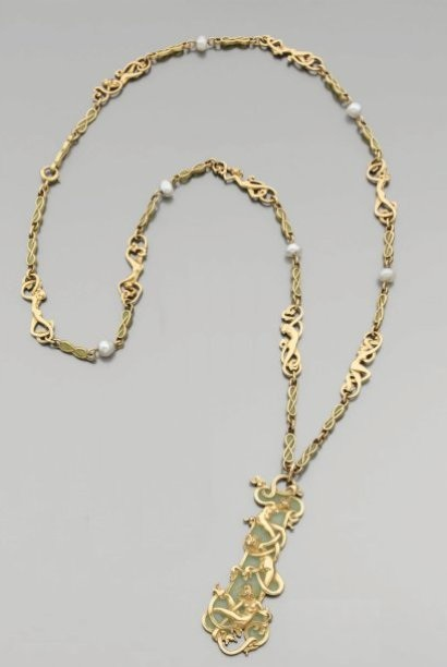 Rene Lalique Femmes D'Or Necklace