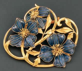 Rene Lalique Pensees Brooch