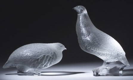 R. Lalique Perdrix Couchee Decoration