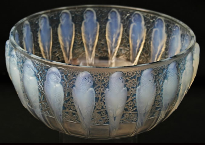 Rene Lalique Perruches Bowl