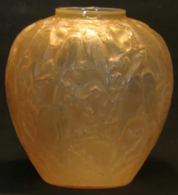 Rene Lalique Vase Perruches