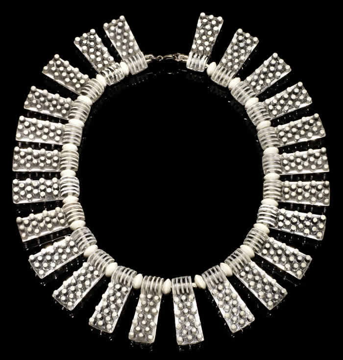 Rene Lalique Plaquettes Perlees Necklace
