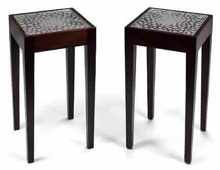 Rene Lalique Plateau Perle Aster End Table