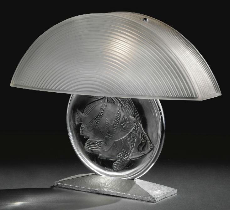 Rene Lalique Poissons Lamp Rlalique Com