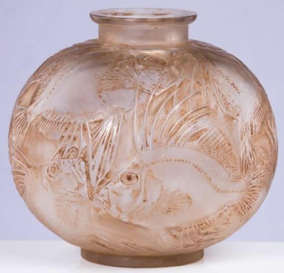 Rene Lalique Vase Poissons