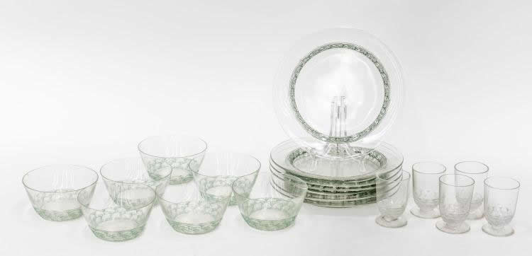 Rene Lalique Tableware Pouilly