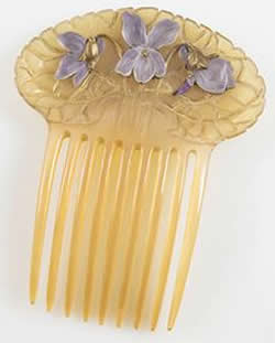 Rene Lalique Purple Violets Comb