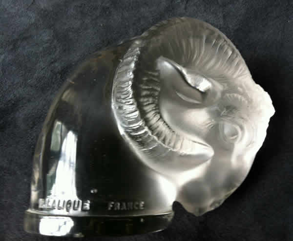 Rene Lalique Car Mascot Rams Head