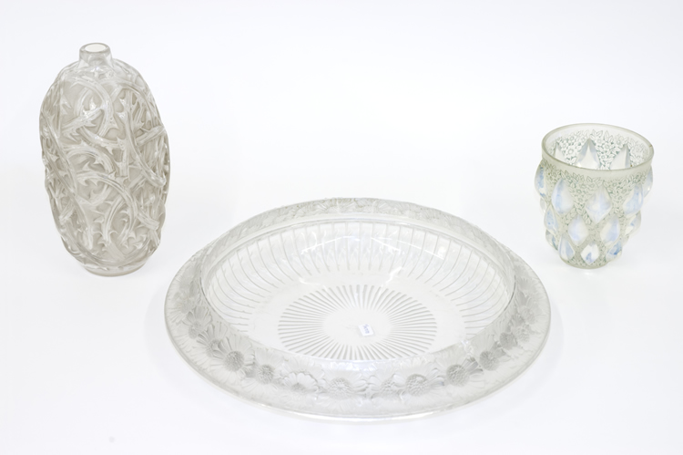 Rene Lalique Vase Rampillon