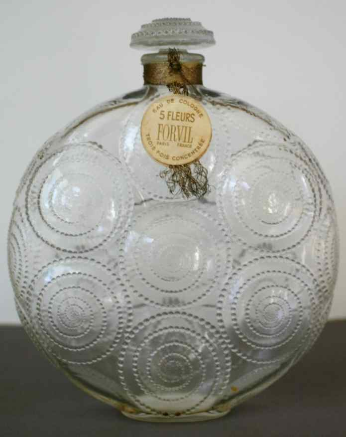 Rene Lalique Relief Perfume Bottle