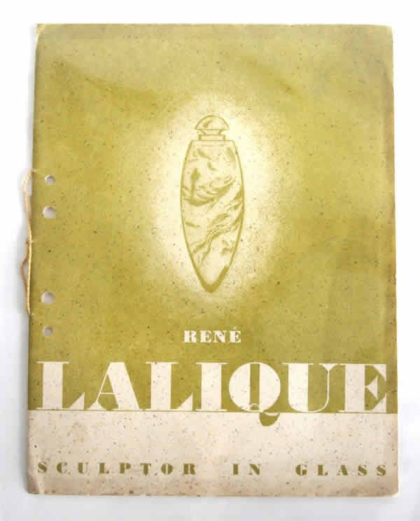Rene Lalique Rene Lalique Sculptor in Glass Exhibition Catalogue