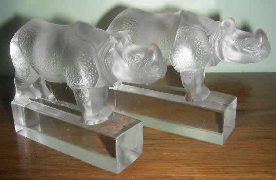 Rene Lalique Rhinoceros Paperweight