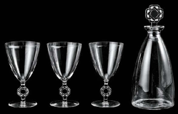 Rene Lalique Ribeauville Tableware
