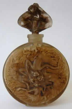 Rene Lalique Rosace Figurines Perfume Bottle