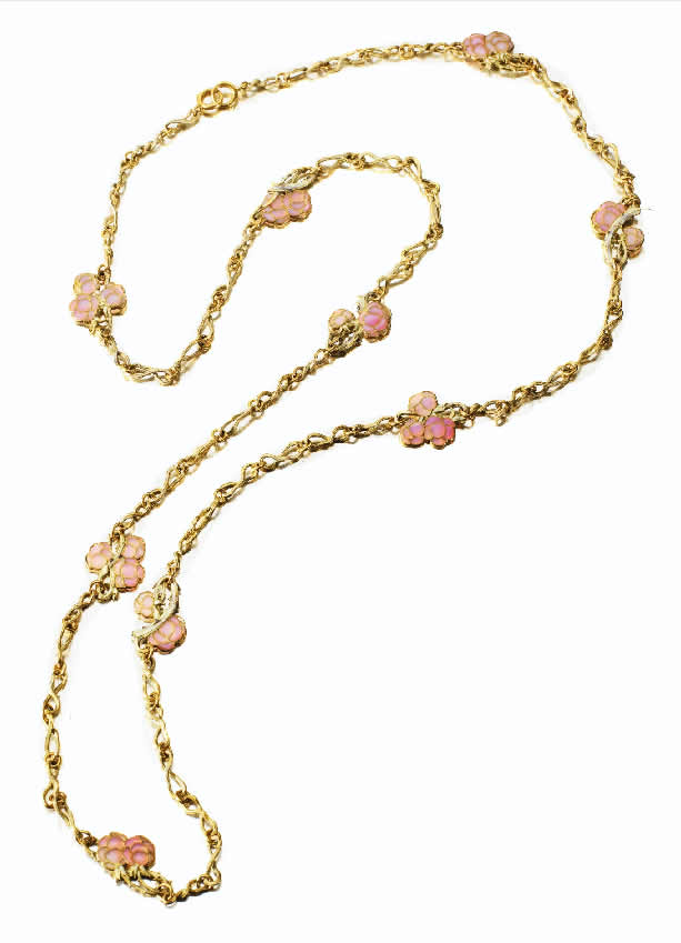 Rene Lalique Rose Rosiers Et Ronces Bleues Necklace
