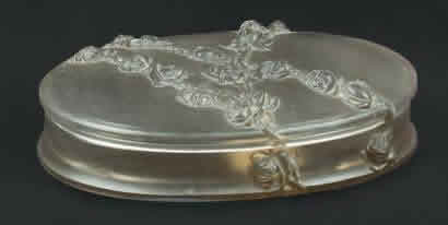 R. Lalique Roses In Relief Box